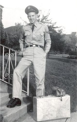 Airman Dad with bags packed