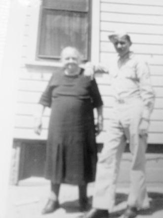 Harold Dalton with his grandmother Mary Katherine Ruppel Schwarztkopf