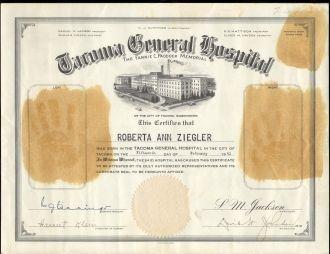 Roberta A Ziegler birth certificate