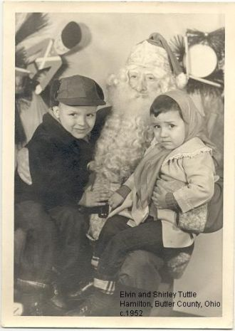Elvin and Shirley Tuttle with Santa Claus