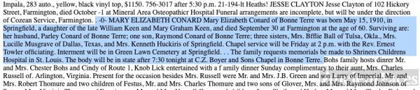 Mary Elizabeth Keen Obituary