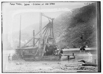 Faga Togo, Samoa -- Dredge at new wharf