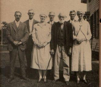 Isaac Franklin Partelo & his children