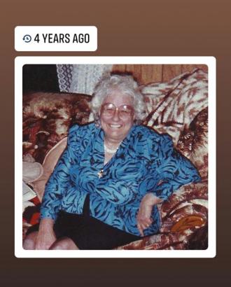 Dorothy M Prehoda sitting at home