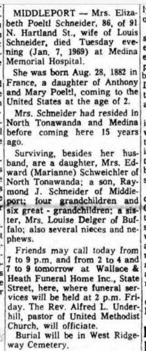Elizabeth (Peoltl) Schneider obituary