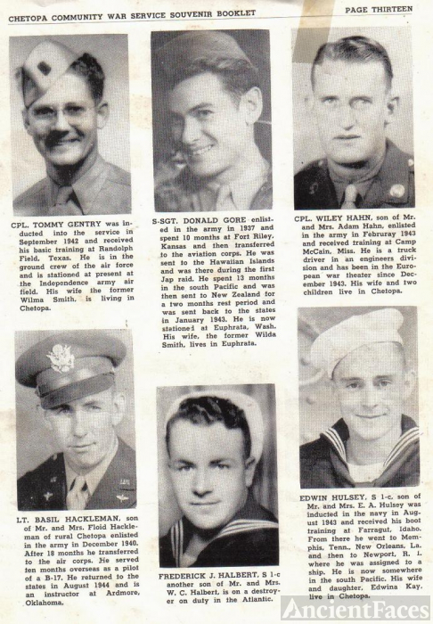ted stafford's Army Book Kansas - G & H surnames