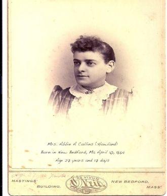Abbie A Collins (Howland), Massachusetts 1891