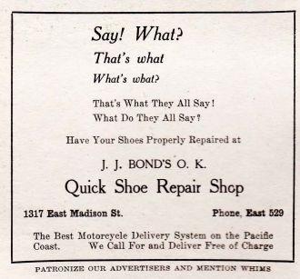 J.J. Bond's OK Quick Shoe Repair Shop