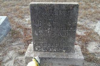 Infant Bishop gravesite