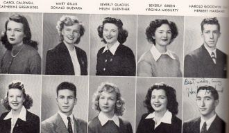 Carol Caldwell  and San Mateo High School students
