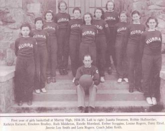 1st Girl's Basketball Team 1934-35 Murray Co. GA