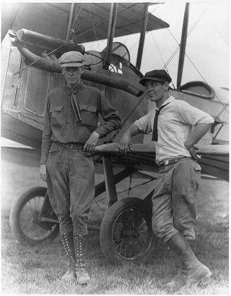 "Charles Lindbergh and Harlan ""Bud"" Gurney"