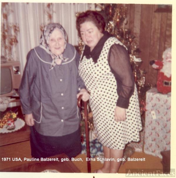 Erna Schlavin and Pauline Balzereit
