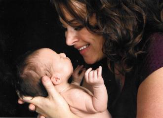 My daughter Kristine Elizabeth Smith Teshima welcoming her new born son, Trey, b. 8-6-2010