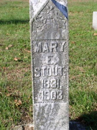 Stout, Mary E.-Tombstone