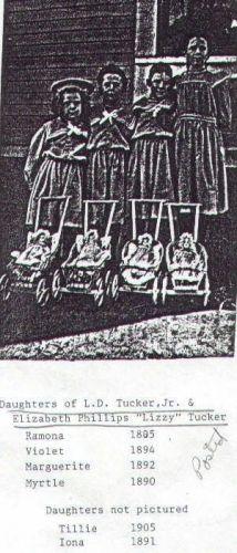 Daughters of Lorenzo Dow Tucker, Jr.