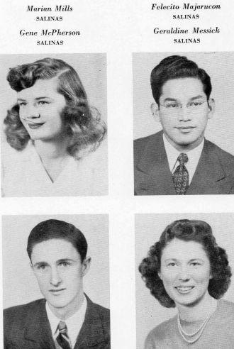 Marian Mills 1946 - Salinas Junior College