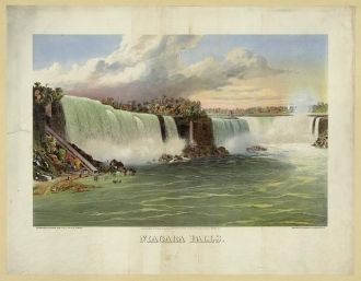 Niagara Falls / lithographed by The Sage, Sons & Co. L.,...