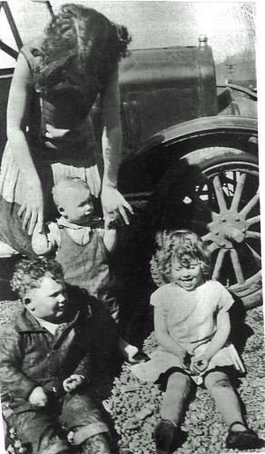 Norma Ferguson with Frank, Fred & Elaine Kroetsch