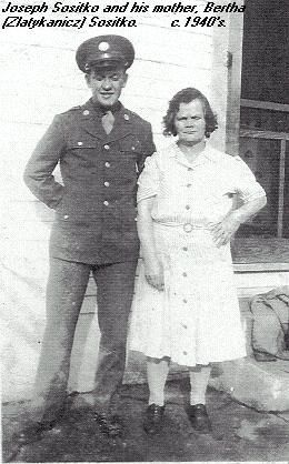 Joseph Sositko and his mother