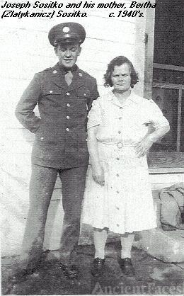Joseph Sositko and his mother