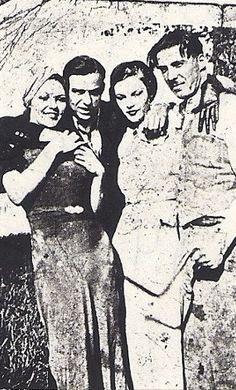 Gertrude & Lillian Gaffney; John Russell, John Wheat
