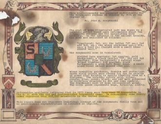Our Sczymanski Coat of Arms
