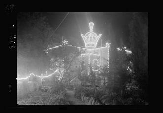 Iranian Consulate. Night illuminations, April 25, 1939....