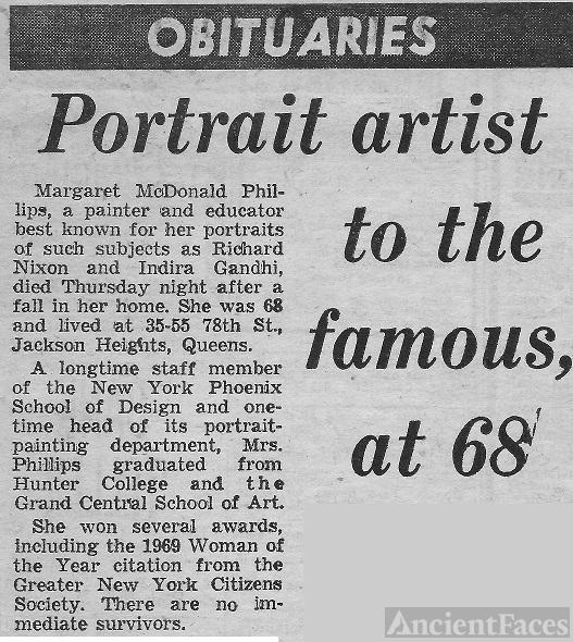 Margaret Phillips Obituary
