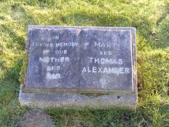 Mary & Thomas Alexander gravesite