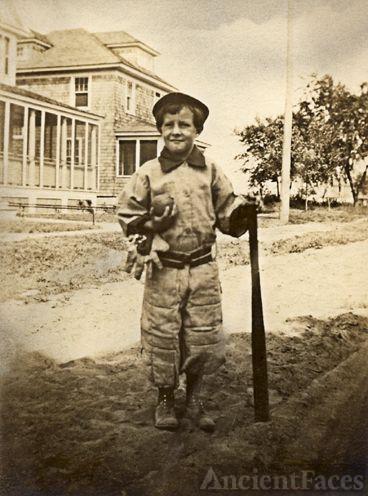 Bill MacIntyre in Baseball Gear c.1920