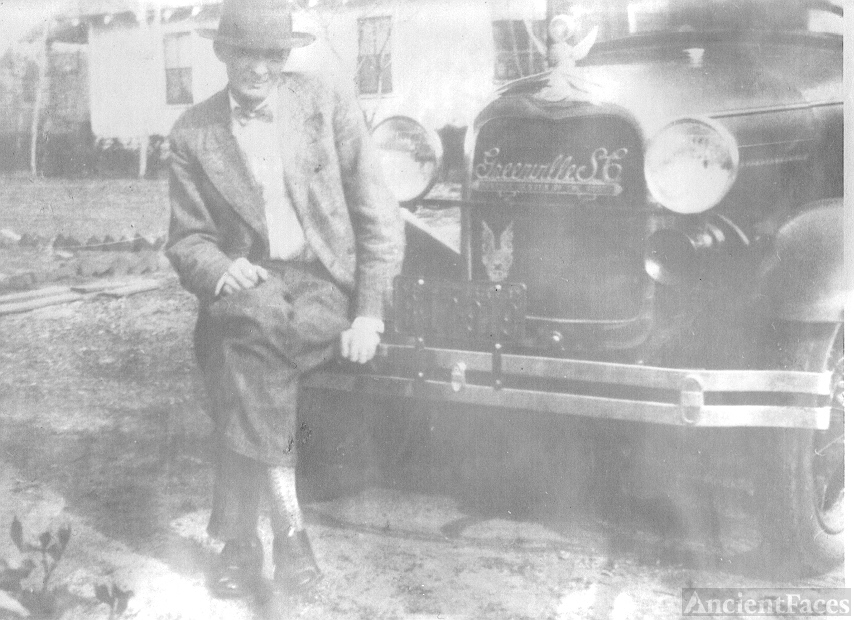 Wofford Cox and his car