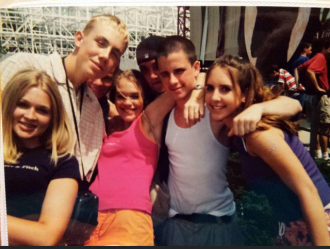 9th Grade End of Year Field Trip to King's Island. Jamie is the tall blonde guy that my arm is around. Who would've thought 4 yrs later you would be gone?