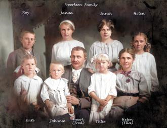 Fred and Ella Freerksen Family
