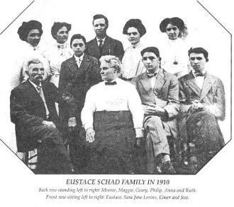 Eustace Schad family, 1890