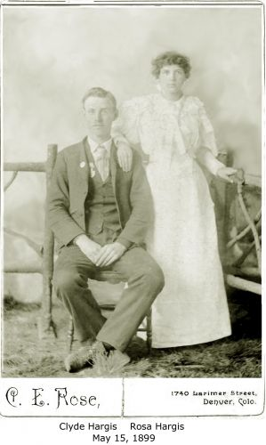 Clyde L. and Rosa Hargis wedding photo