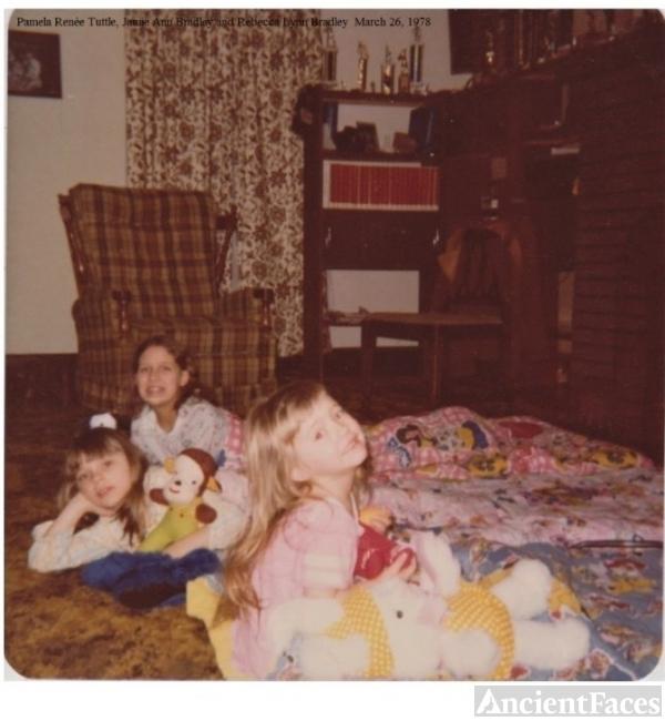 Bradley sister on Easter, 1978