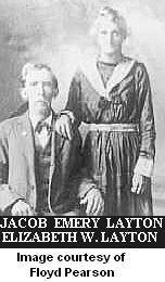 """Jacob E. & Elizabeth """"Lizzie"""" W. (Foss) Layton"""