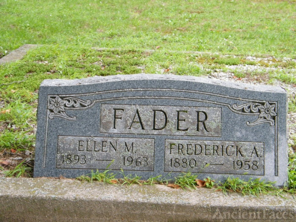 Fred and Helen Fader gravesite