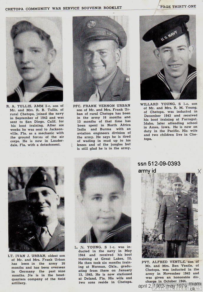 ted stafford army book, WW II