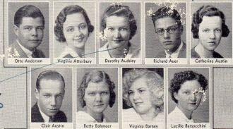 Otto Anderson and Lowell High 1933 Seniors
