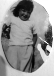 """Linda Mae Kenyon (1948-2004}, at the Oregon beach. Maybe about 4-5 years old. This is my my """"big sister"""" Linda.  My Father, Loyd L. Kenyon, adopted Linda after he married our Mom, Gloria."""