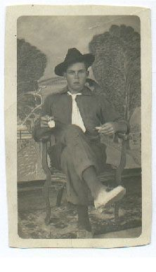 Willie Goss in cowboy clothes about 1910