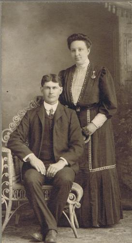 Asa Alva and Minnie Molt Simmons