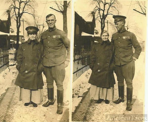 Mrs. Ella Skaggs & Lieutenant H. Bridwell