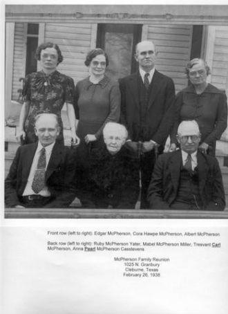 """Cora Eudora """"Hawpe"""" McPherson family"""