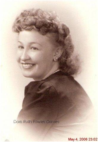 Doris Ruth Fowler Grimes