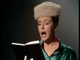 Joyce Phipps Grenfell as the lady in church