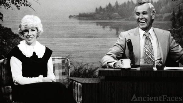 Joan Rivers with Johnny Carson