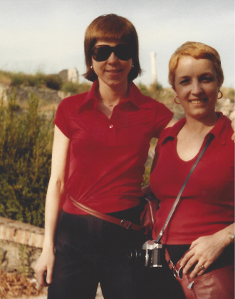 In Croatia with Amanda.